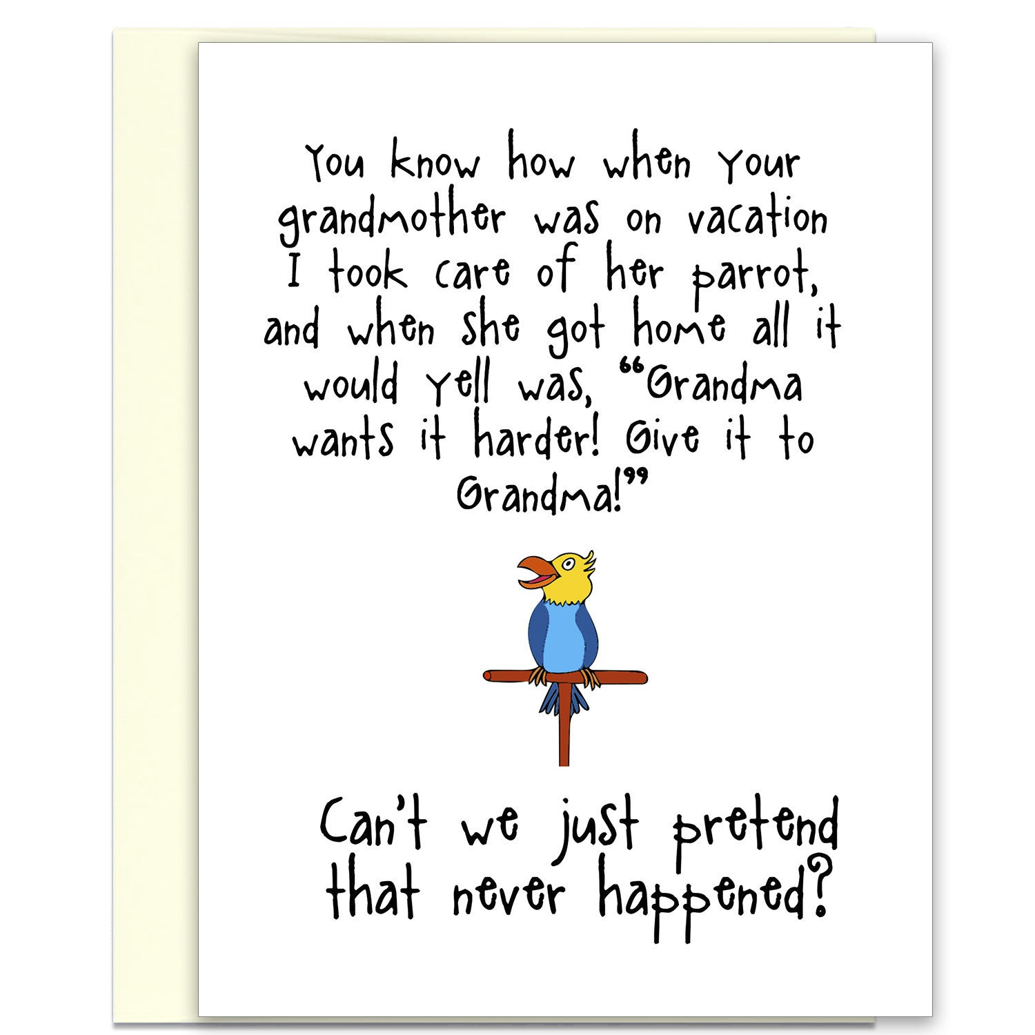e57f1679e Give it to Grandma - A Silly Relationship Greeting Card for Friends -  KatMariacaStudio - 1 ...