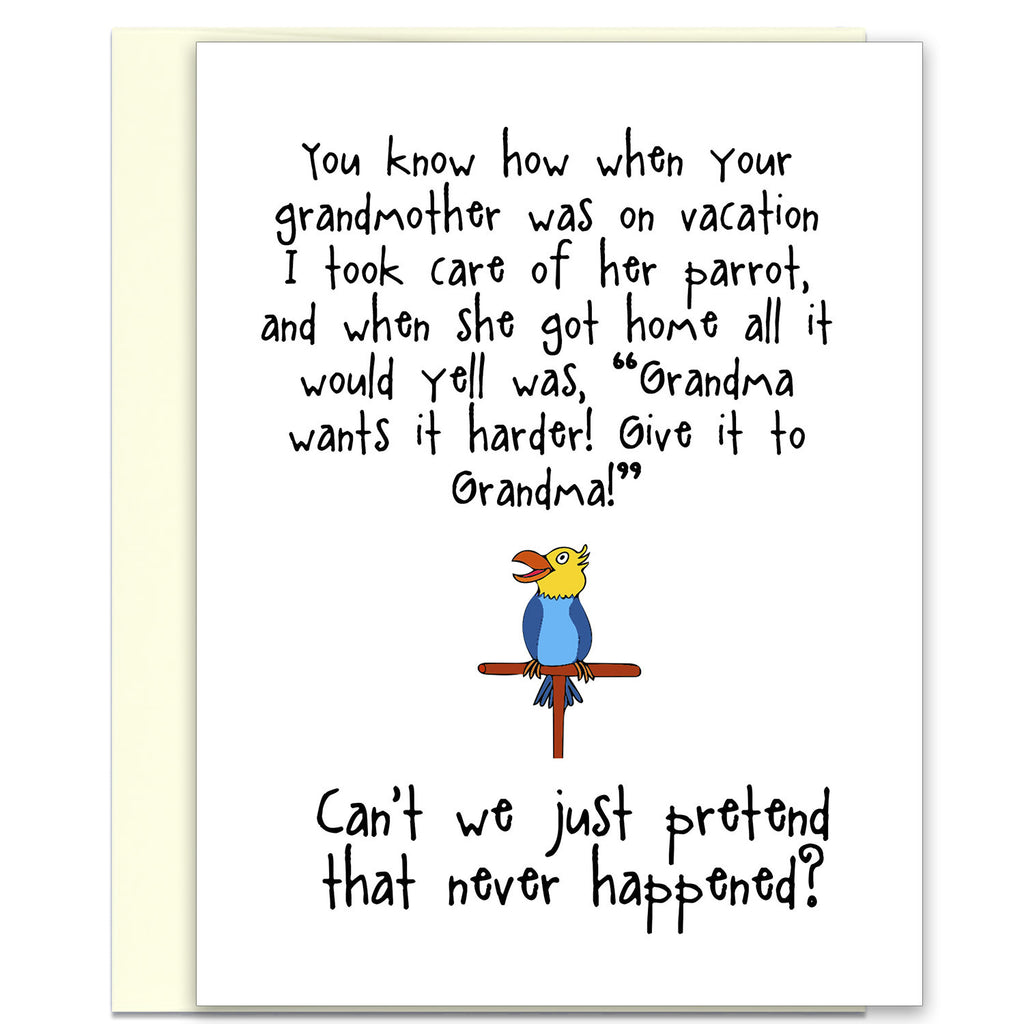 Give it to Grandma - A Silly Relationship Greeting Card for Friends - KatMariacaStudio - 1