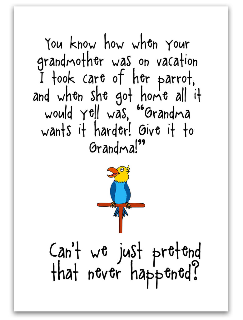 Give it to Grandma - A Silly Relationship Greeting Card for Friends - KatMariacaStudio - 3