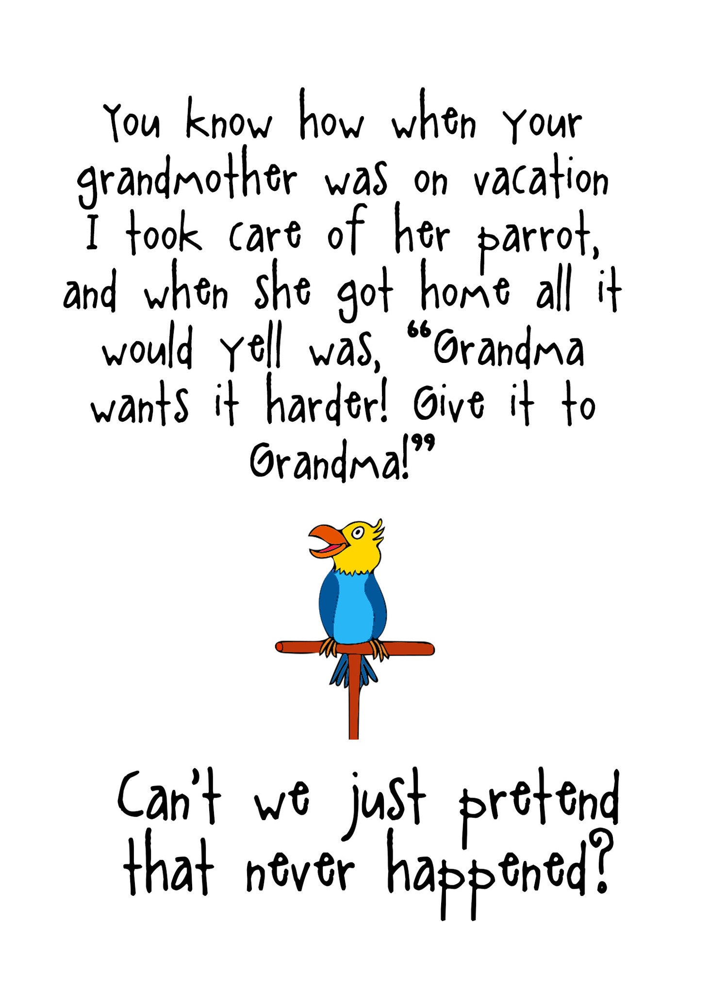 8d8fc5944 ... Give it to Grandma - A Silly Relationship Greeting Card for Friends -  KatMariacaStudio - 4 ...