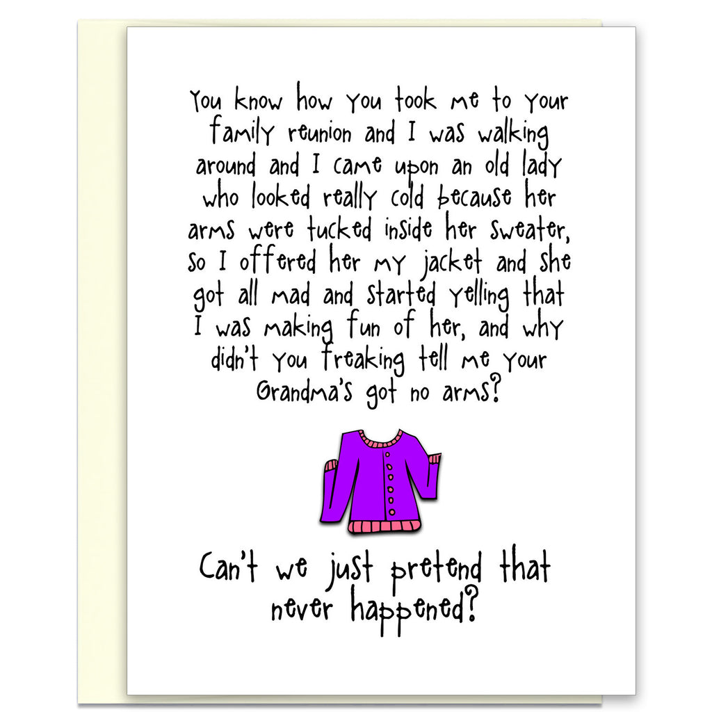Funny Relationship Card - Giving You the Cold Shoulder - from Kat Mariaca Studio - KatMariacaStudio - 1