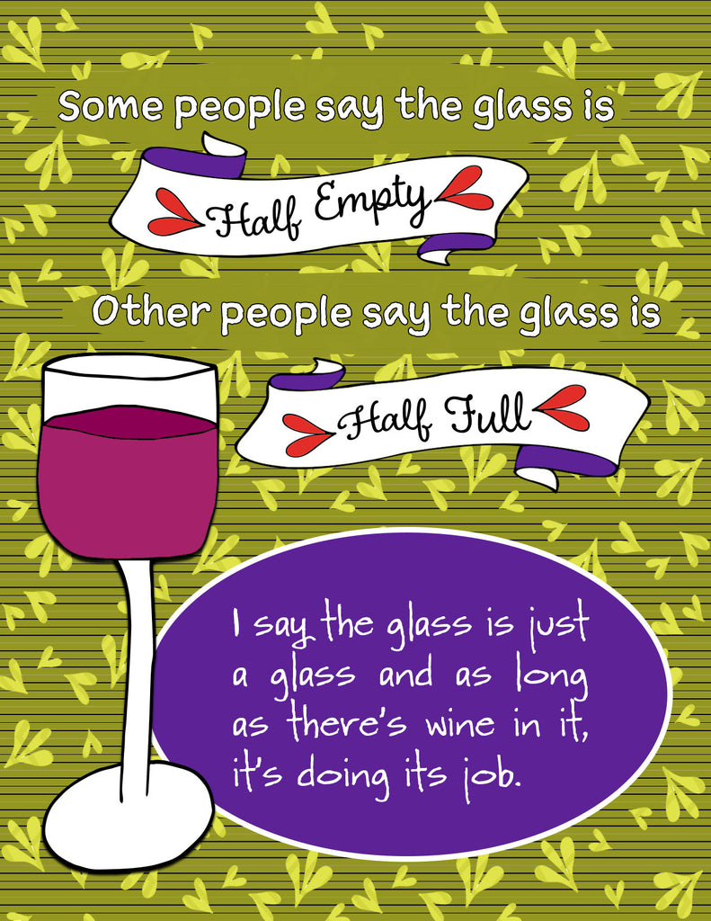 Glass Half Full - Fun Wine Card for Friends - KatMariacaStudio - 4