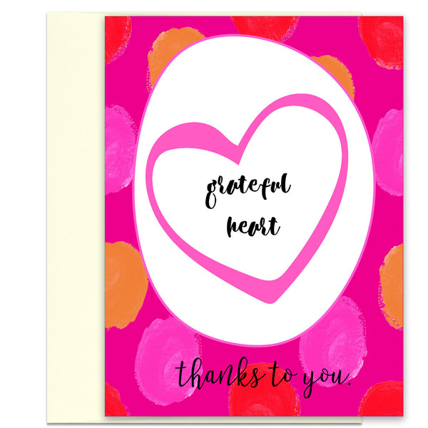Beautiful Thank You Card - Grateful Heart - KatMariacaStudio - 1