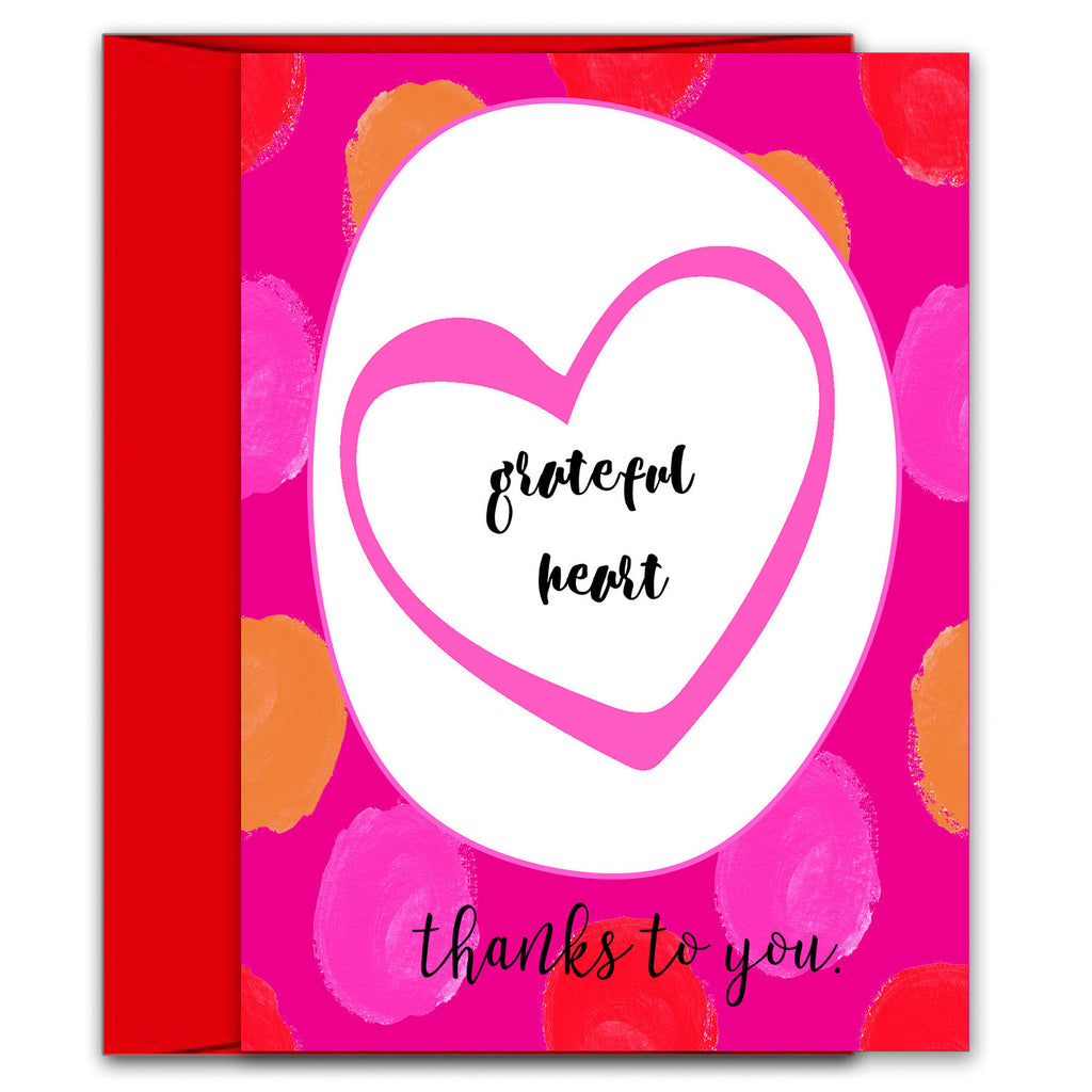 Beautiful Thank You Card - Grateful Heart - KatMariacaStudio - 5