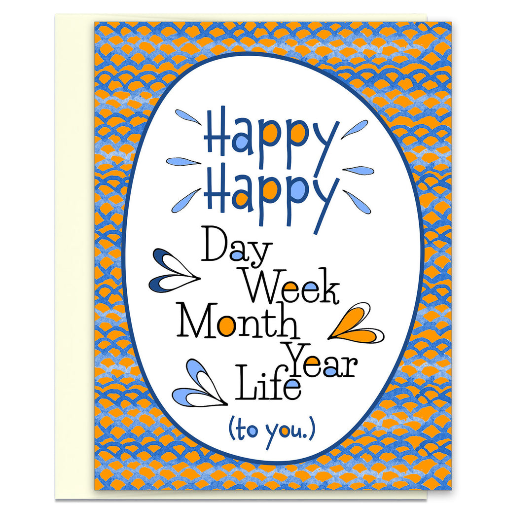 Great Birthday Card - Graduation Card - Happy Happy Life - KatMariacaStudio - 1