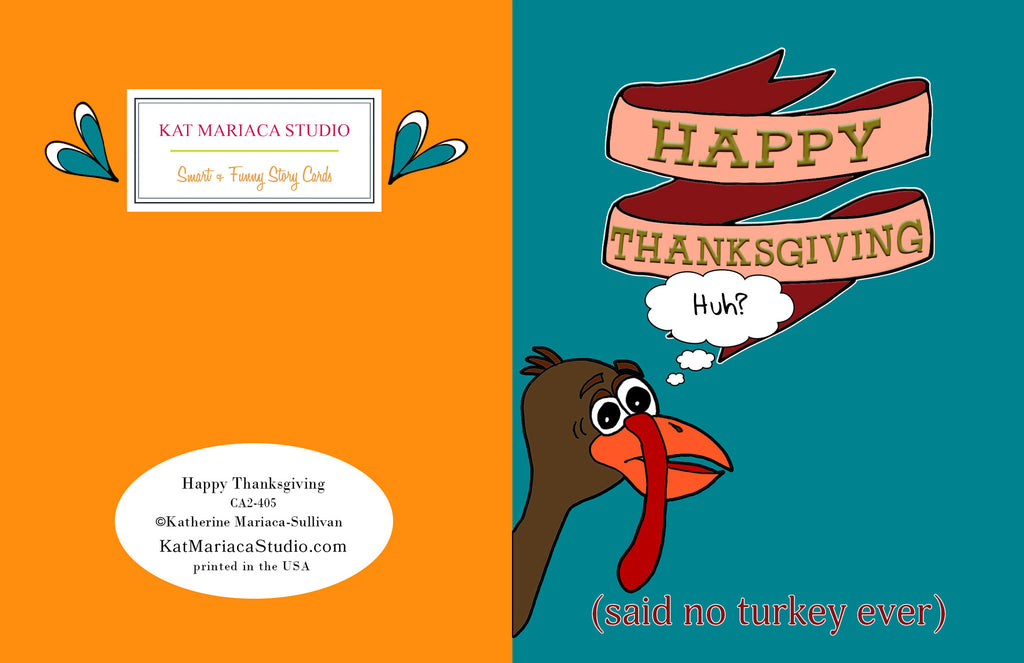 Happy Thanksgiving Card - Funny Thanksgiving Card - KatMariacaStudio - 2