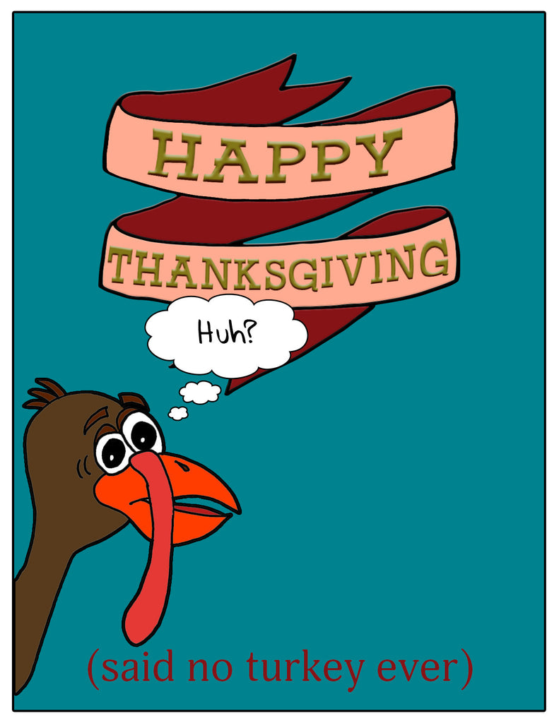 Happy Thanksgiving Card - Funny Thanksgiving Card - KatMariacaStudio - 3