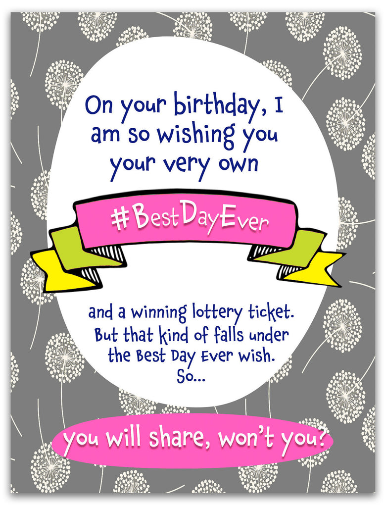 Hashtag Best Day Ever Birthday Card