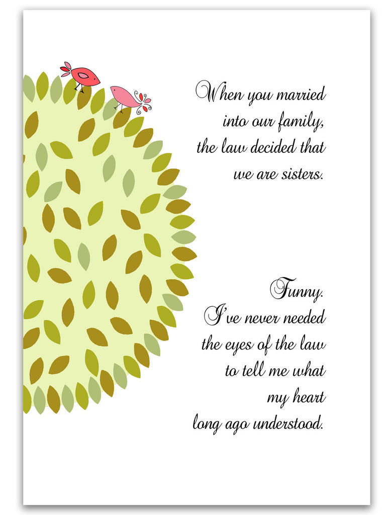 Sister-in-Law Card - Heart Understanding - Birds - KatMariacaStudio - 3