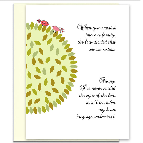 Sister-in-Law Card - Heart Understanding - Birds - KatMariacaStudio - 1