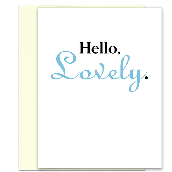 Love Card - Card for Lover - Hello, Lovely Greeting Card - KatMariacaStudio - 1