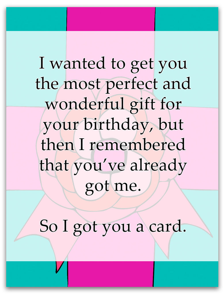 Funny Birthday Card - I Got You a Birthday Card - KatMariacaStudio - 3