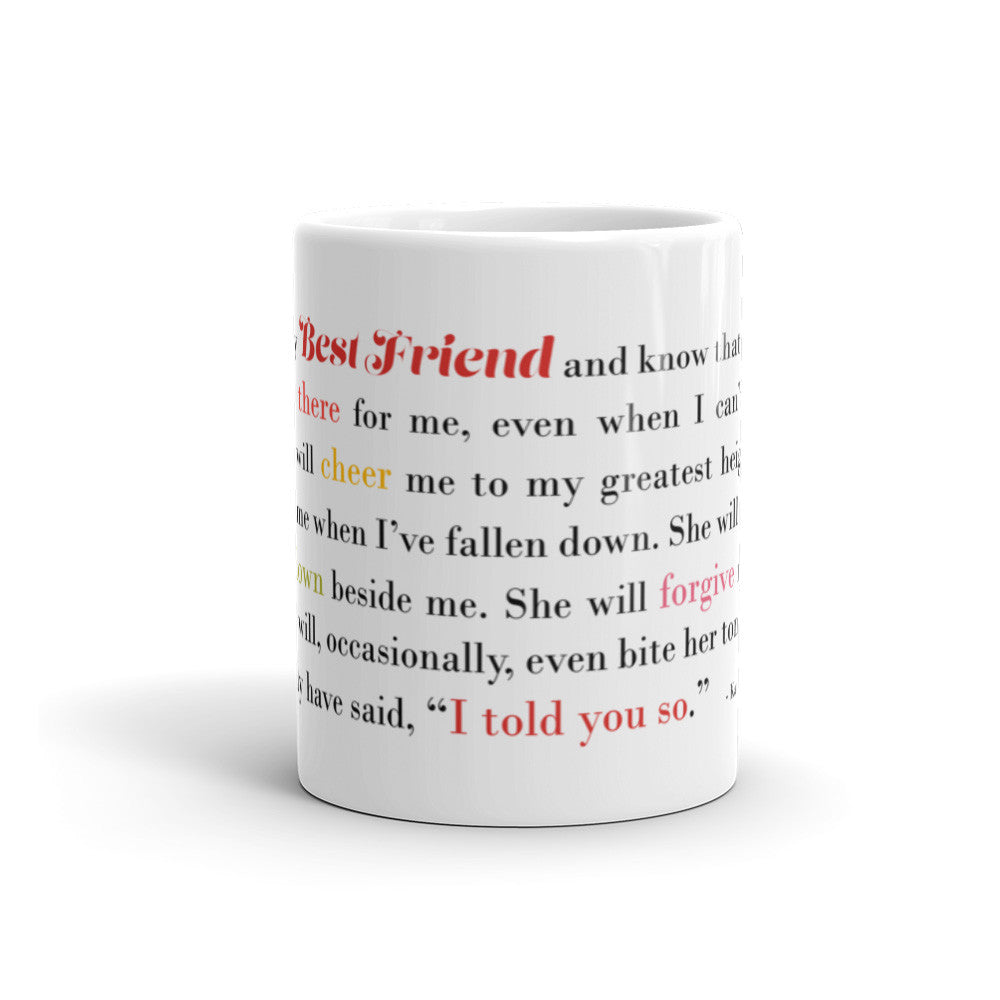 I Think of My Best Friend - Male - 11 oz  or 15 oz Mug - KatMariacaStudio - 1