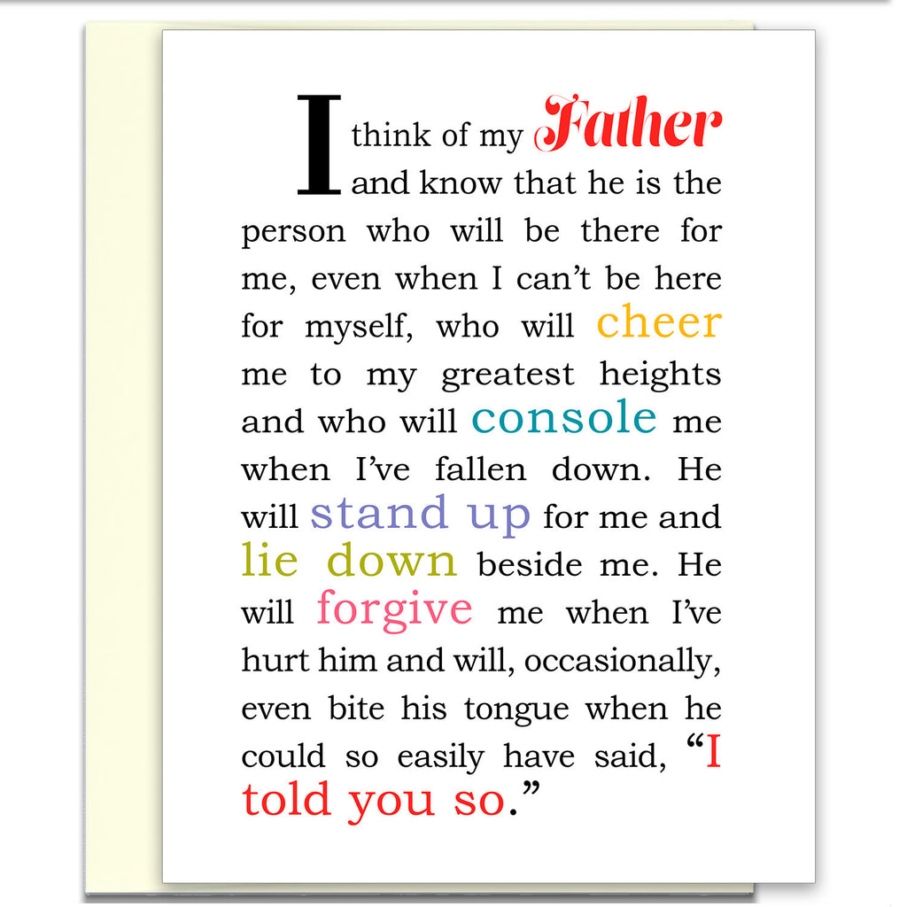I Think of My Father - Greeting Card for Father - KatMariacaStudio - 1