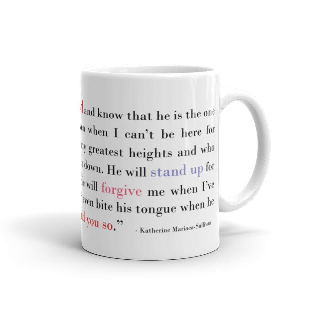 I Think of My Husband - 11 oz  or 15 oz Coffee Mug - KatMariacaStudio - 2