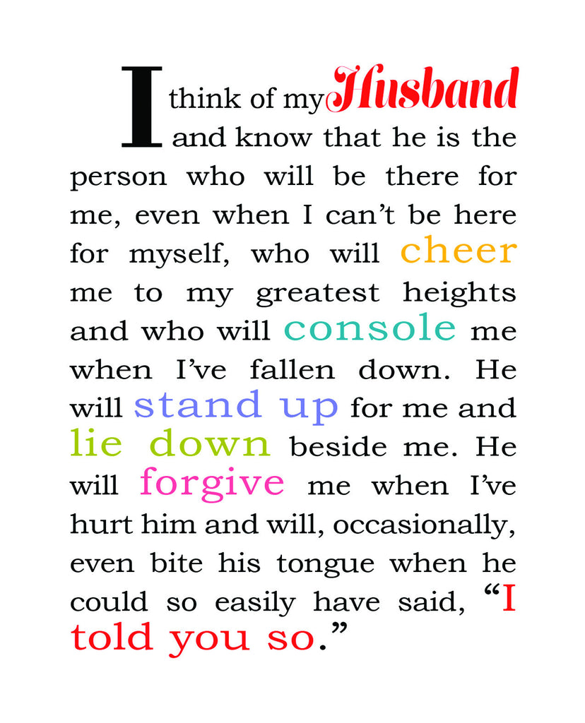 I Think of My Husband - Love Card for Husband - KatMariacaStudio - 4