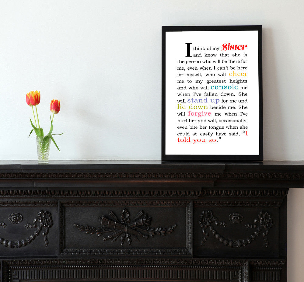 I Think of My Sister - Matted Art Print - KatMariacaStudio - 2