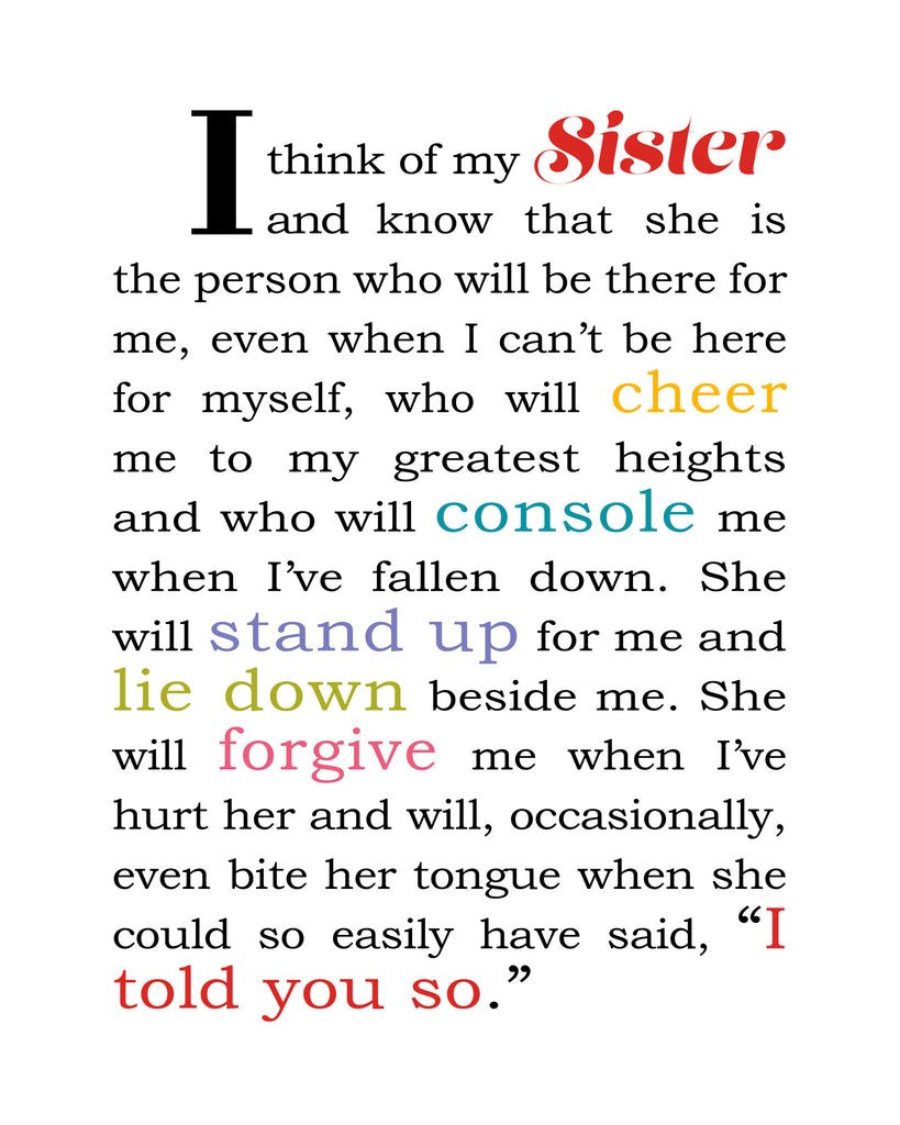 I Think of My Sister - Card for Sister - KatMariacaStudio - 3