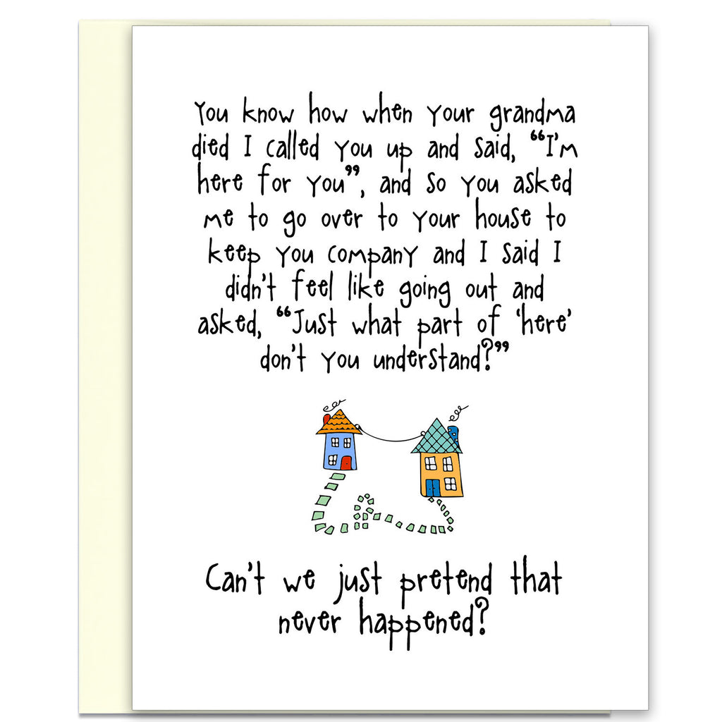 Funny Relationship Card - I'm Here for You - from Kat Mariaca Studio - KatMariacaStudio - 1