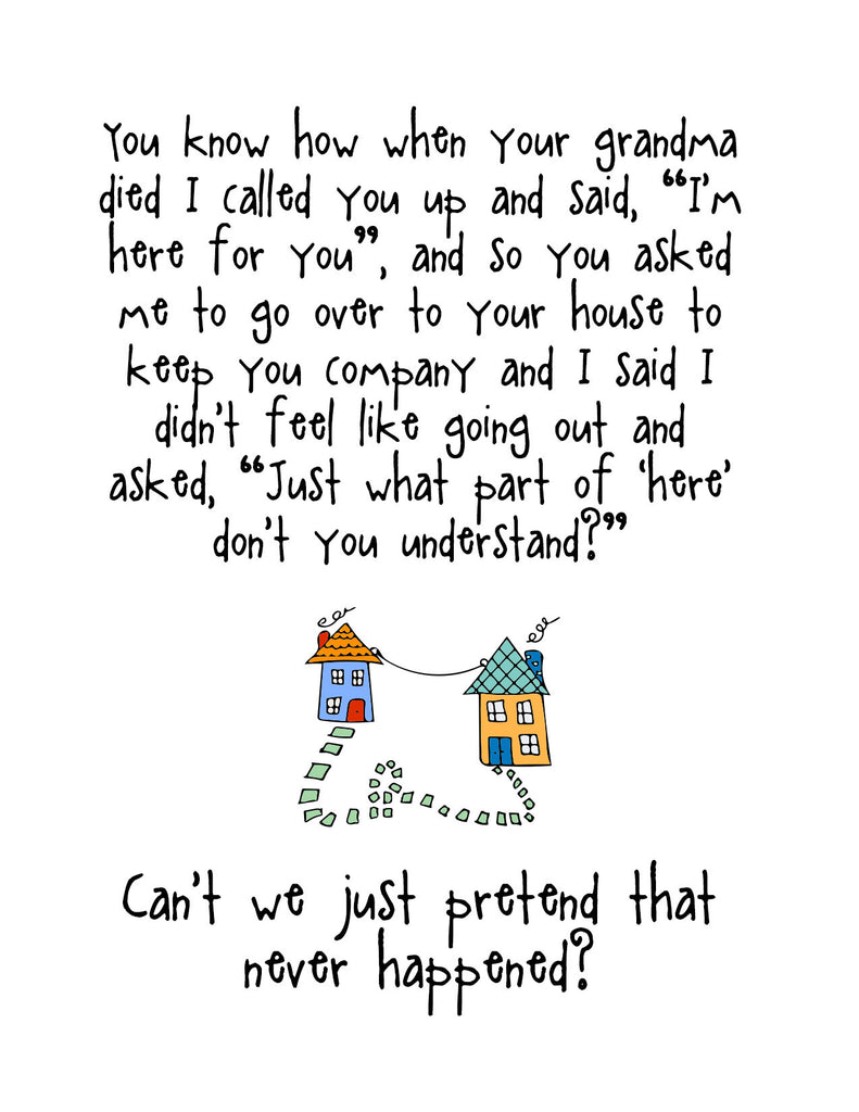 Funny Relationship Card - I'm Here for You - from Kat Mariaca Studio - KatMariacaStudio - 4