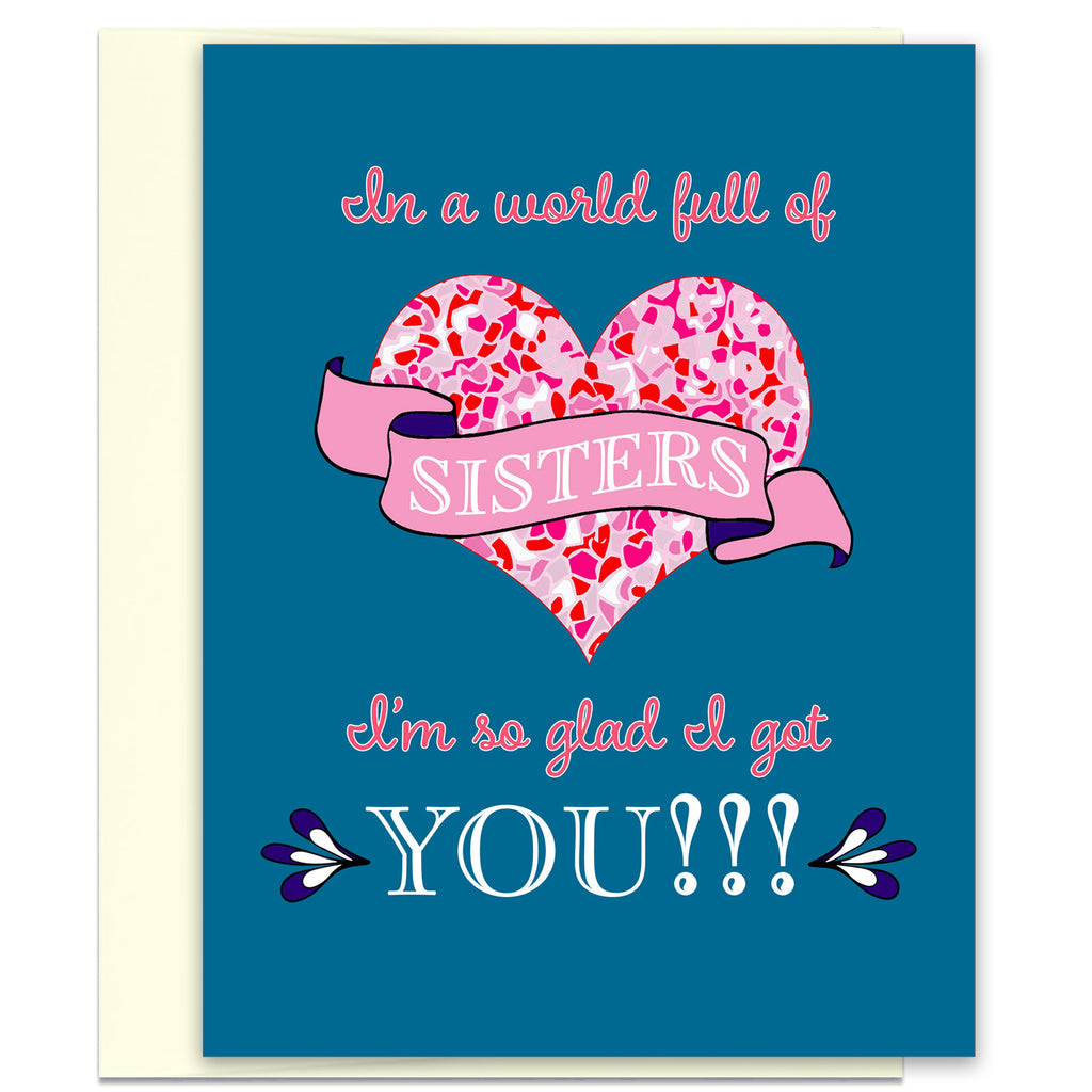 Instant Download - In a World Full of Sister's - Printable Sister Gift