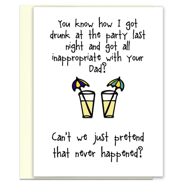Inappropriate with Your Dad - Funny Greeting Card - KatMariacaStudio - 5