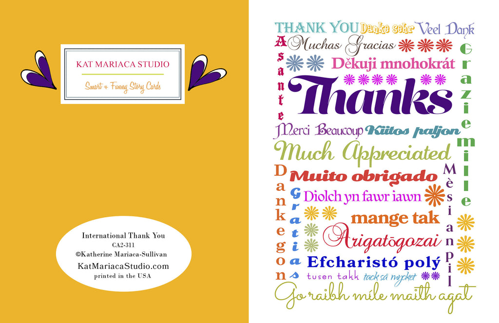 Card Set - Thank you - Multi-lingual International Thank You Cards - KatMariacaStudio - 3