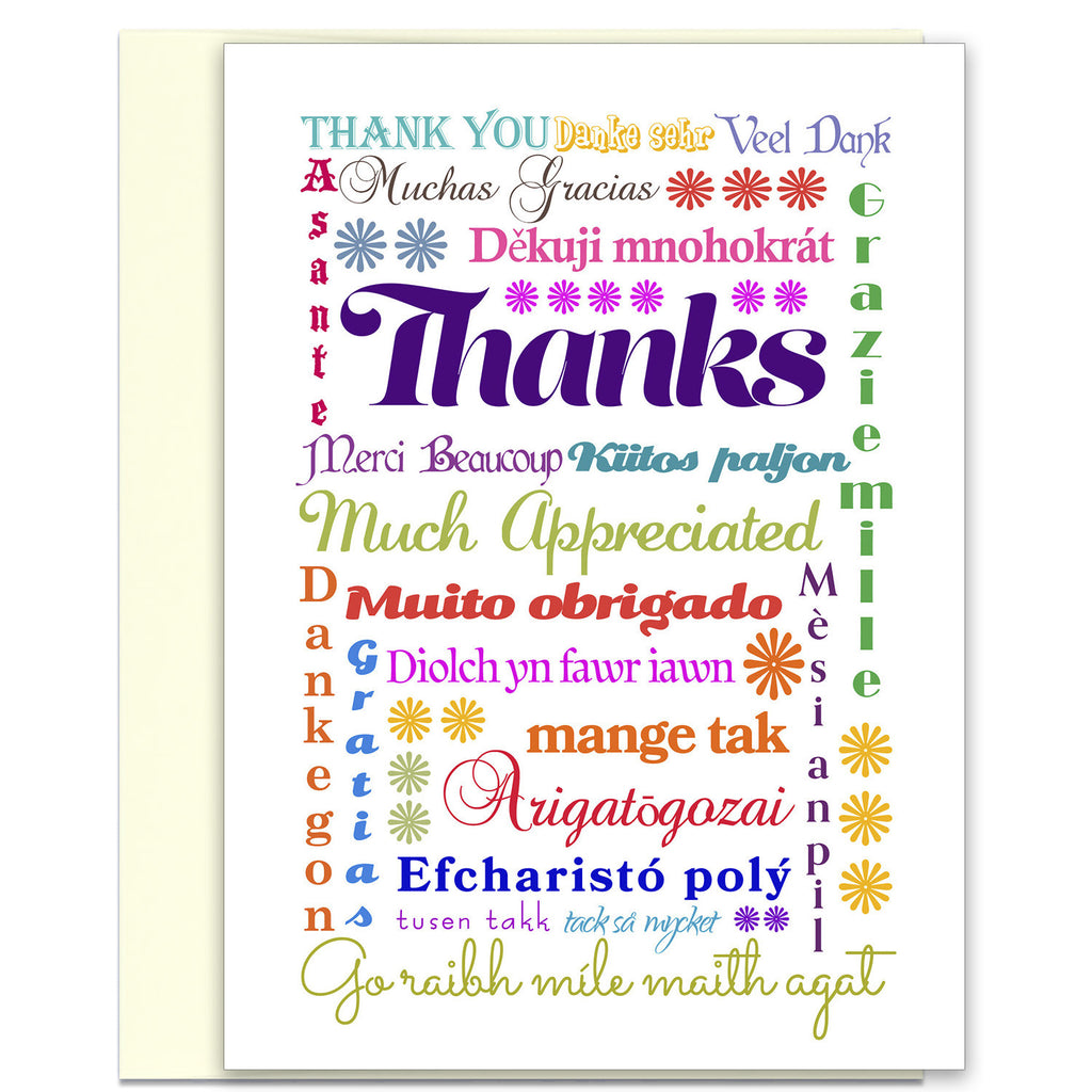 Card Set - Thank you - Multi-lingual International Thank You Cards - KatMariacaStudio - 2