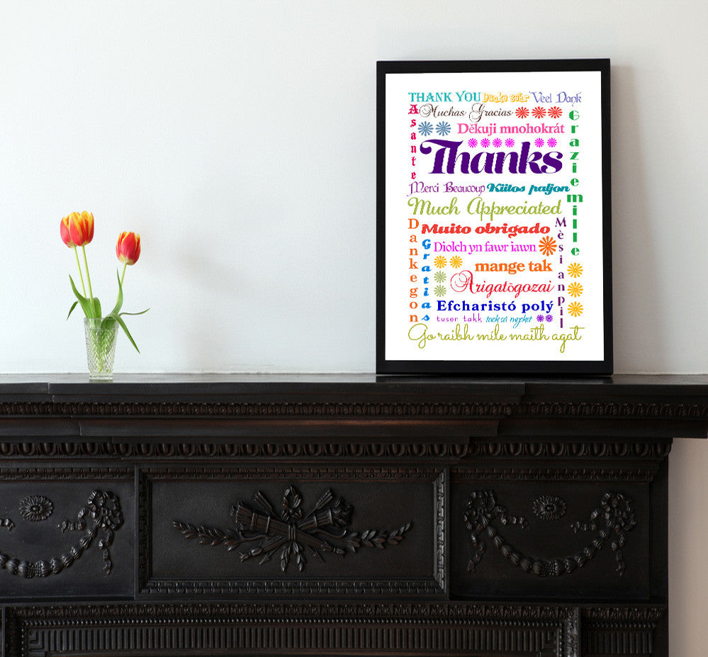 International Thank You - a Postal Notes Greetings design from Kat Mariaca Studio