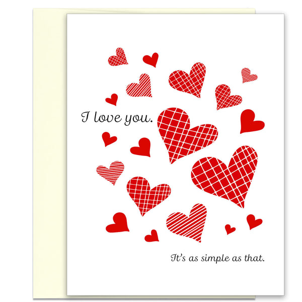 It's as Simple as That - I Love You Valentine's Day Card - KatMariacaStudio - 1