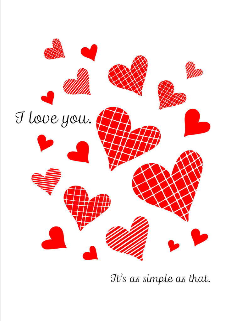 It's as Simple as That - I Love You Valentine's Day Card - KatMariacaStudio - 4