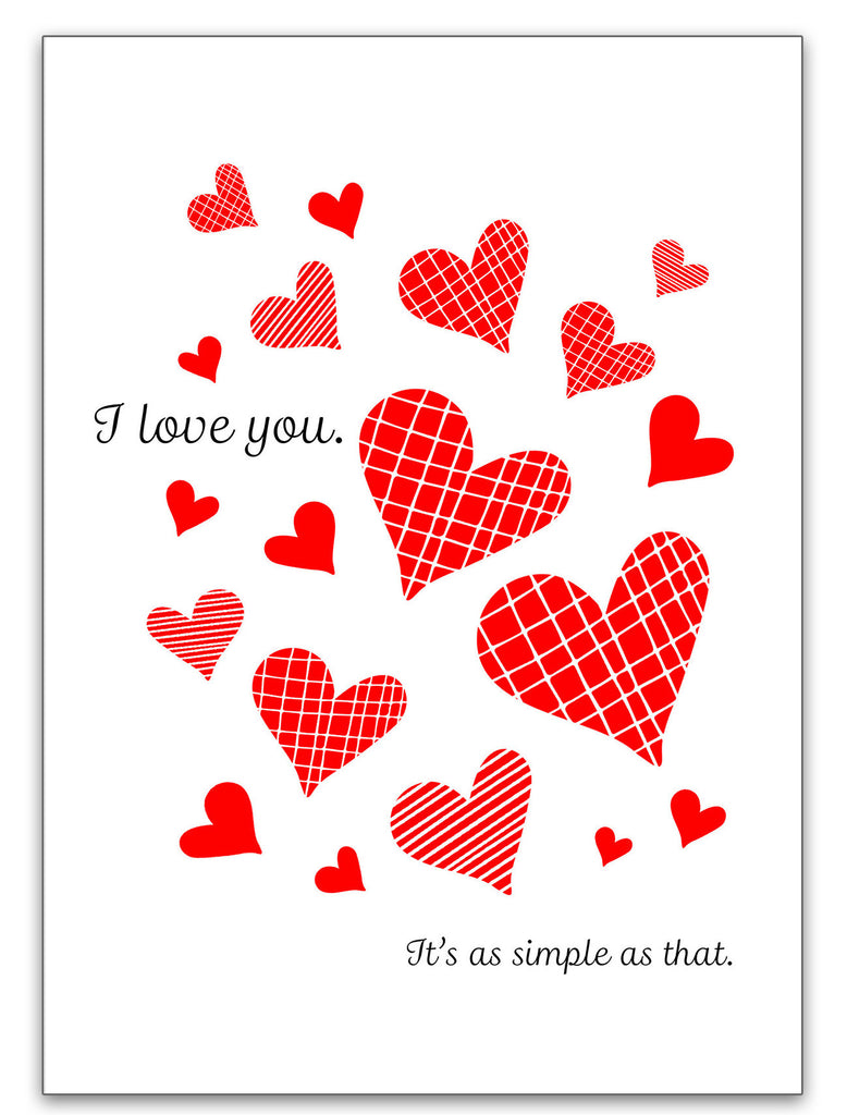 It's as Simple as That - I Love You Valentine's Day Card - KatMariacaStudio - 3