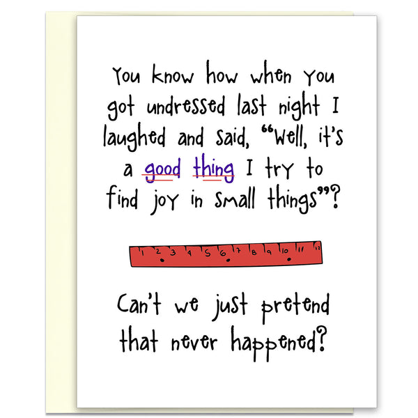 Regretful and Funny Card - Joy in Small Things - KatMariacaStudio - 1