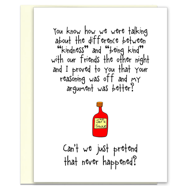 Funny Relationship Card - Kind of a Jerk - from Kat Mariaca Studio - KatMariacaStudio - 1