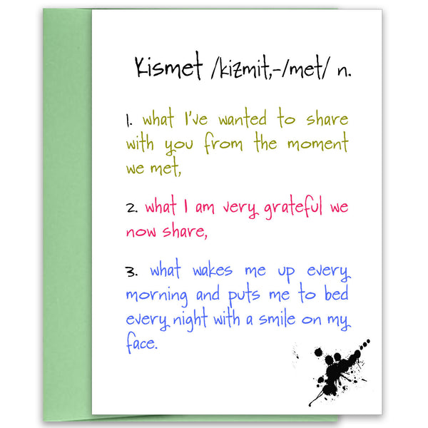 Kismet - Celebration of Love Greeting Card - KatMariacaStudio - 1