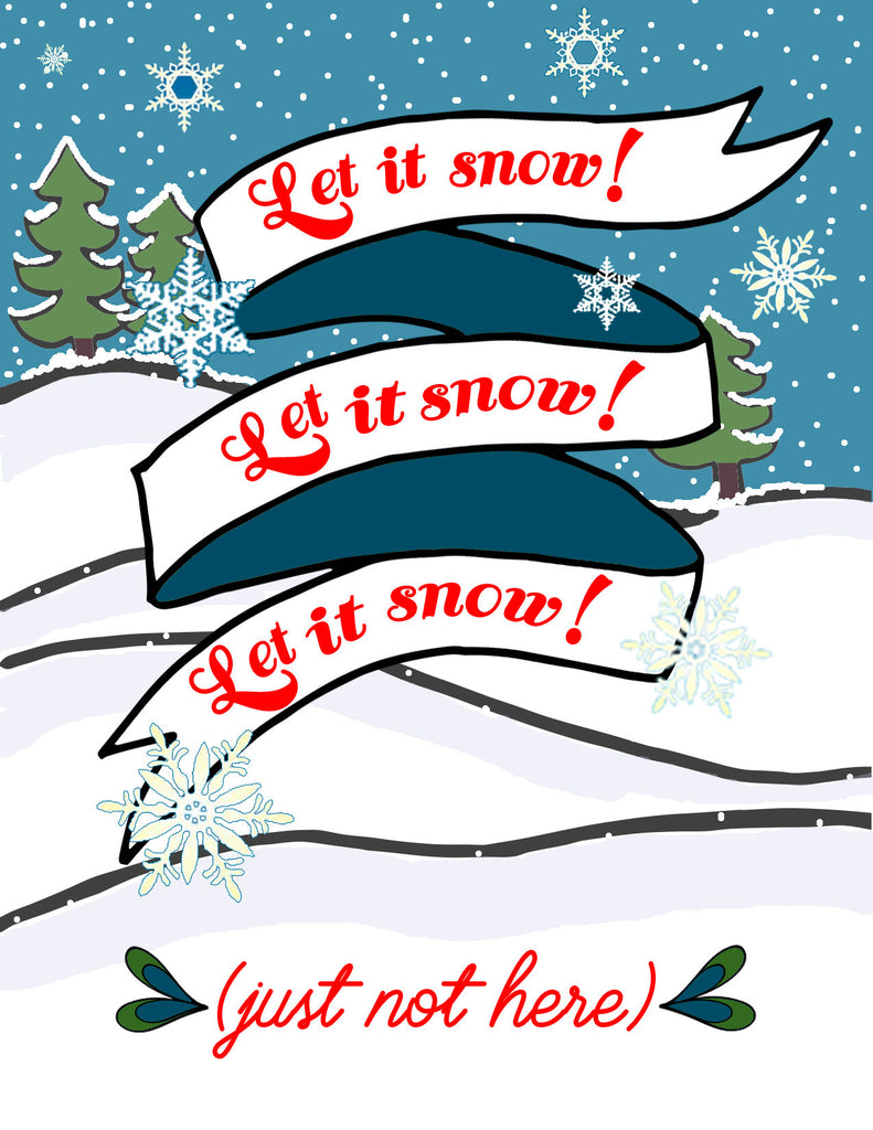 Let it Snow Holiday Card - KatMariacaStudio - 3