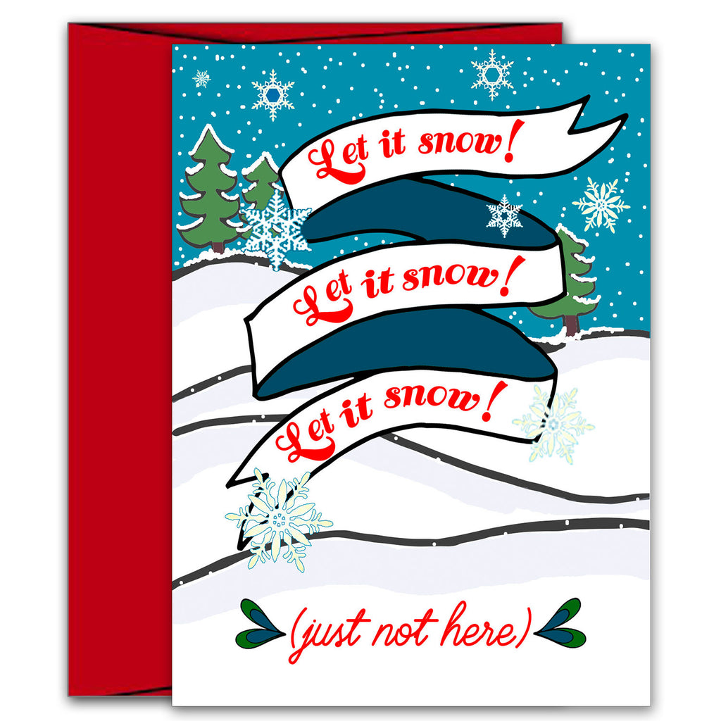 Let it Snow Holiday Card - KatMariacaStudio - 1