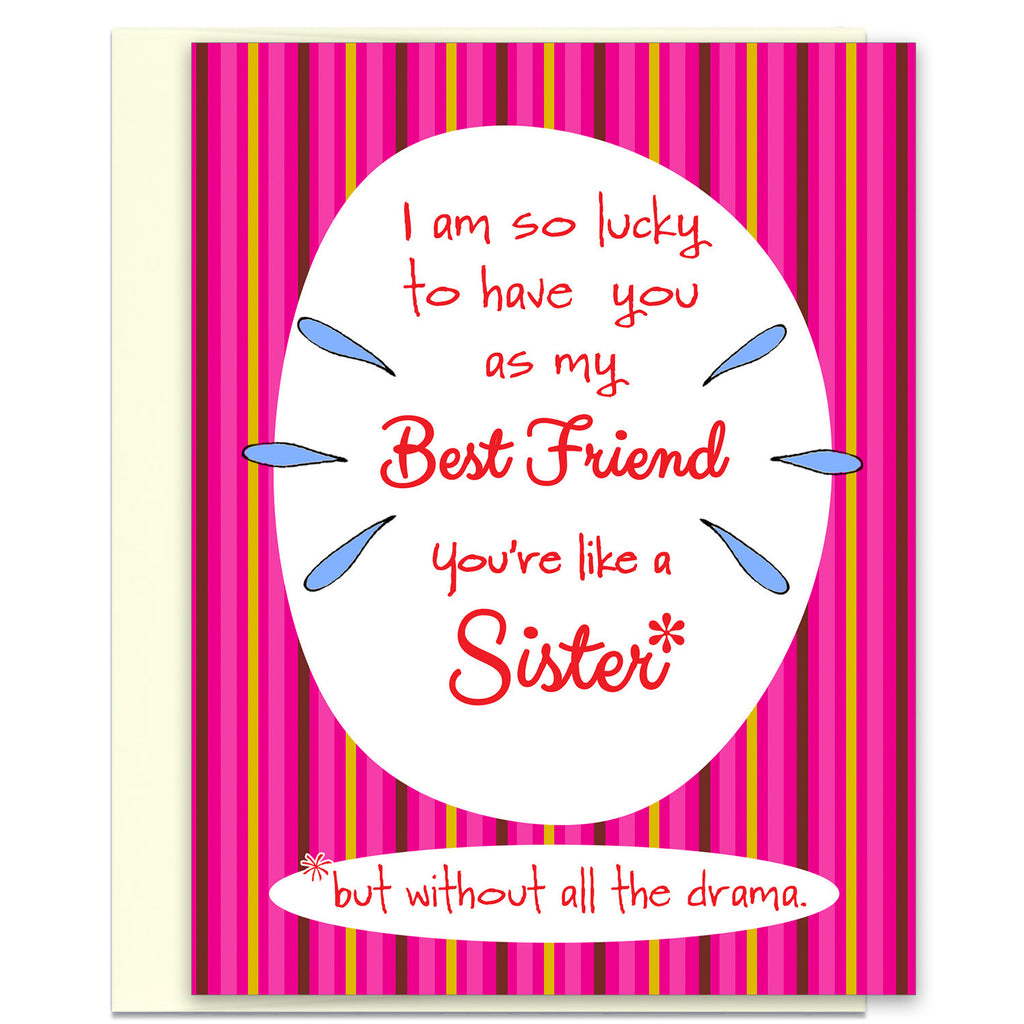 Like a Sister - Best Friend Greeting Card - KatMariacaStudio - 1