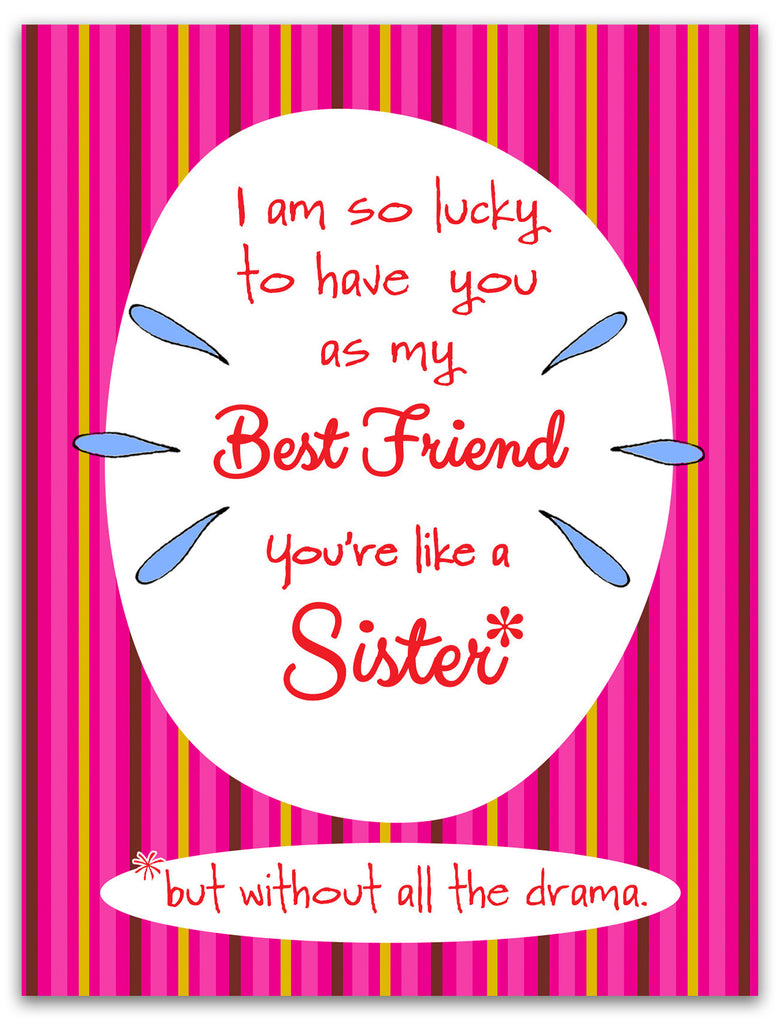 Like a Sister - Best Friend Greeting Card - KatMariacaStudio - 3