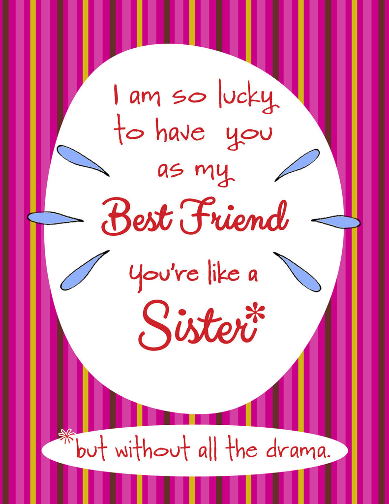 Like a Sister - Best Friend Greeting Card - KatMariacaStudio - 4