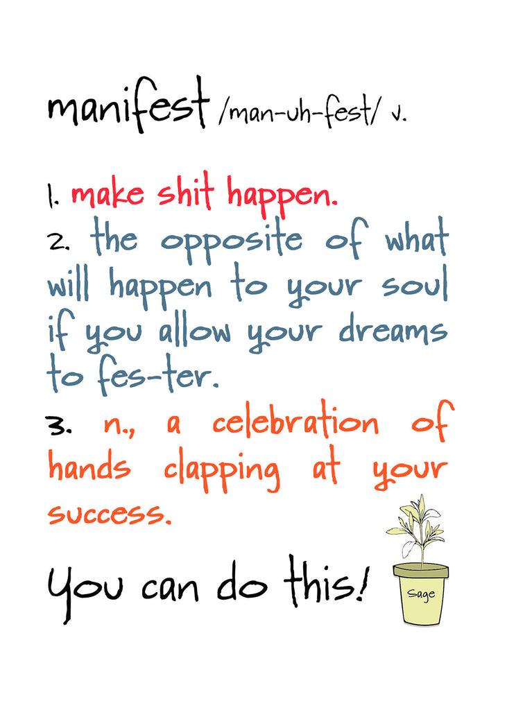 Instant Download - Manifest - Printable Gift