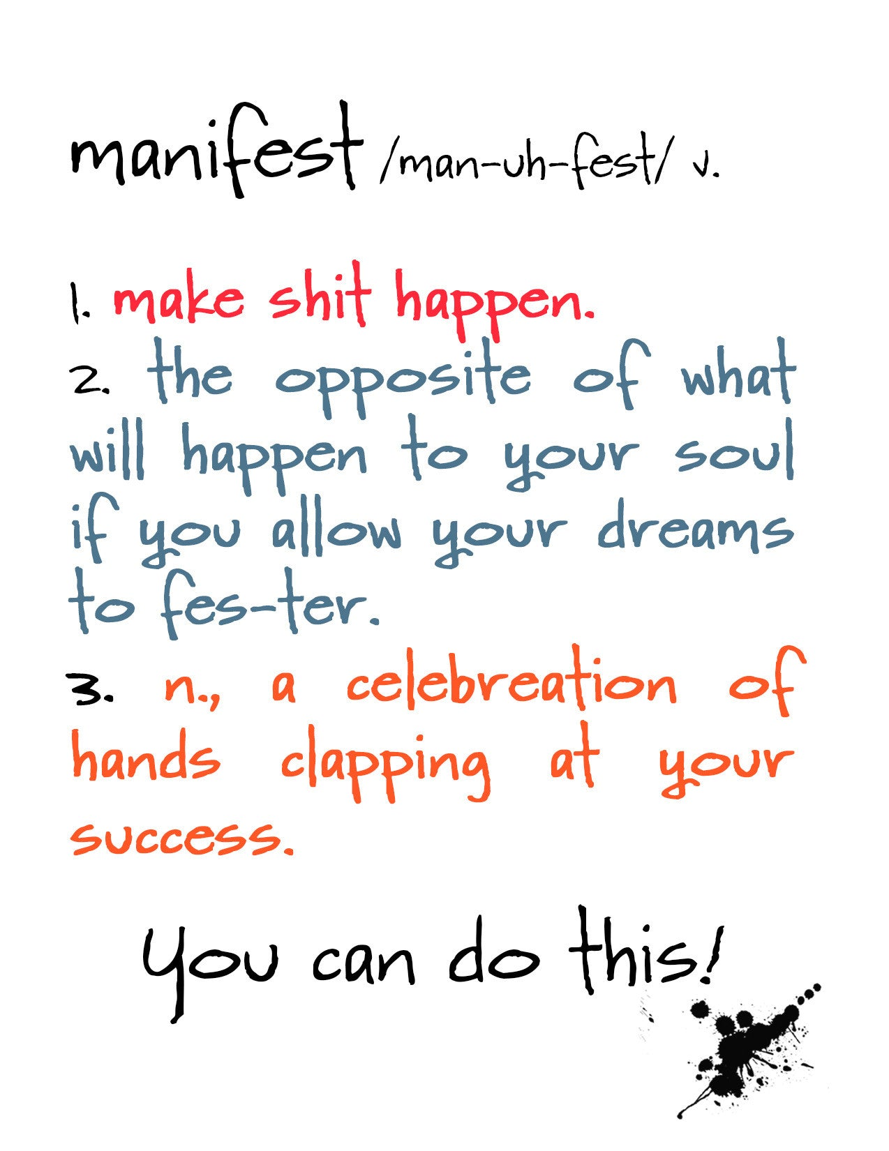 Manifest Encouragement Card For Friend Kat Mariaca Studio