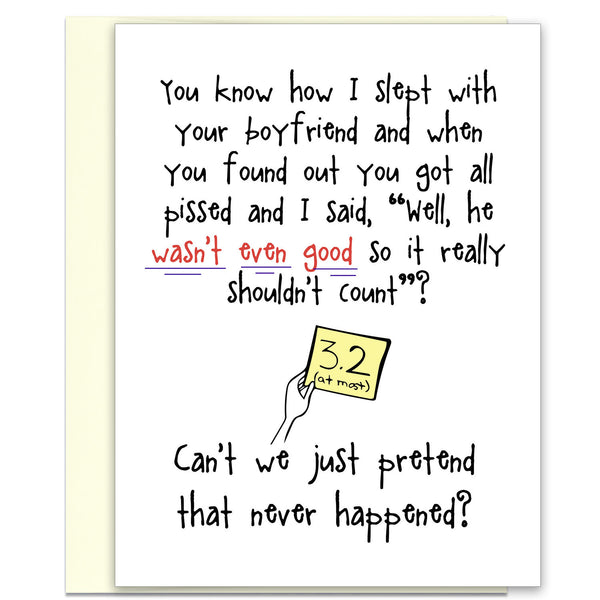 Not Very Good - Funny Adult Greeting Card - KatMariacaStudio - 1
