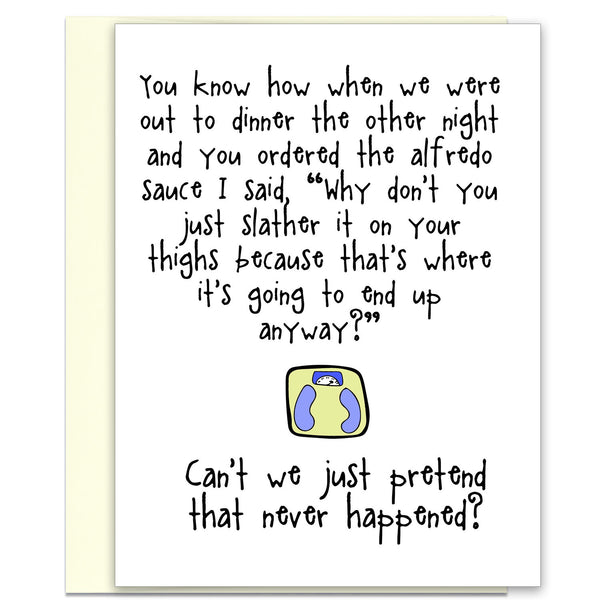 Out to Dinner - An Awkward Relationship Greeting Card - KatMariacaStudio - 1