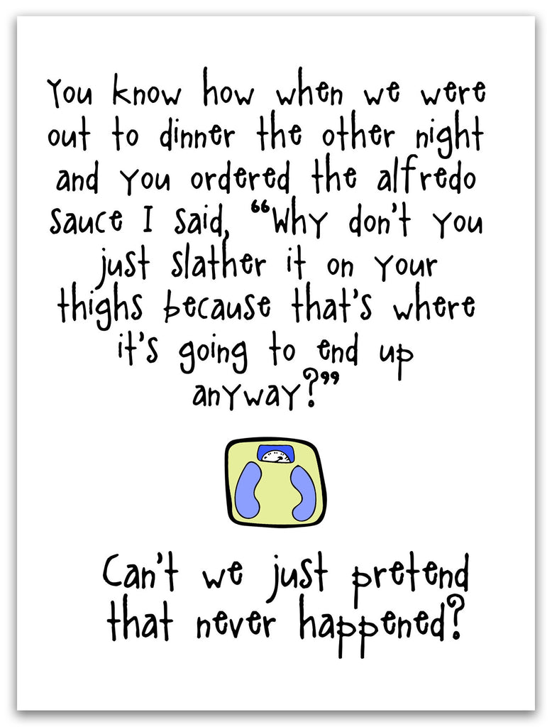 Out to Dinner - An Awkward Relationship Greeting Card - KatMariacaStudio - 3