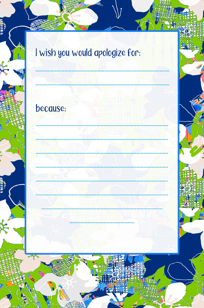 I Think of My Sister - A Keepsake Prompt Journal for My Sister (Watercolor Fans)