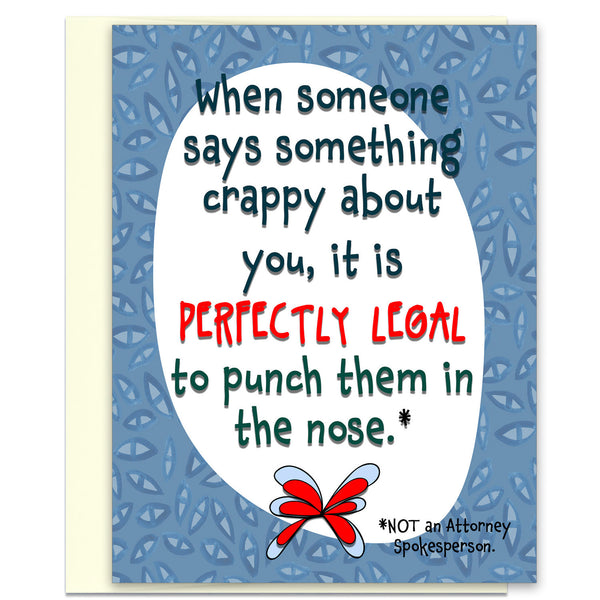 Perfectly Legal - Funny Encouragement Card for Friends - KatMariacaStudio - 1