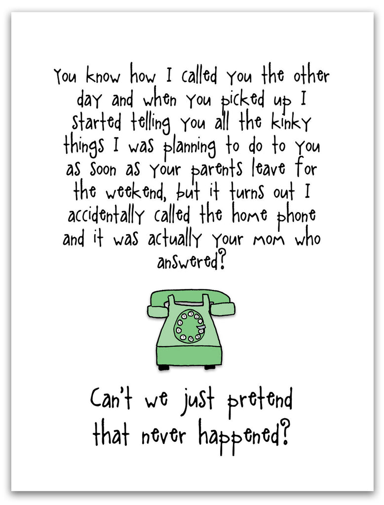 Funny Relationship Card - Phone Sex - from Kat Mariaca Studio - KatMariacaStudio - 3