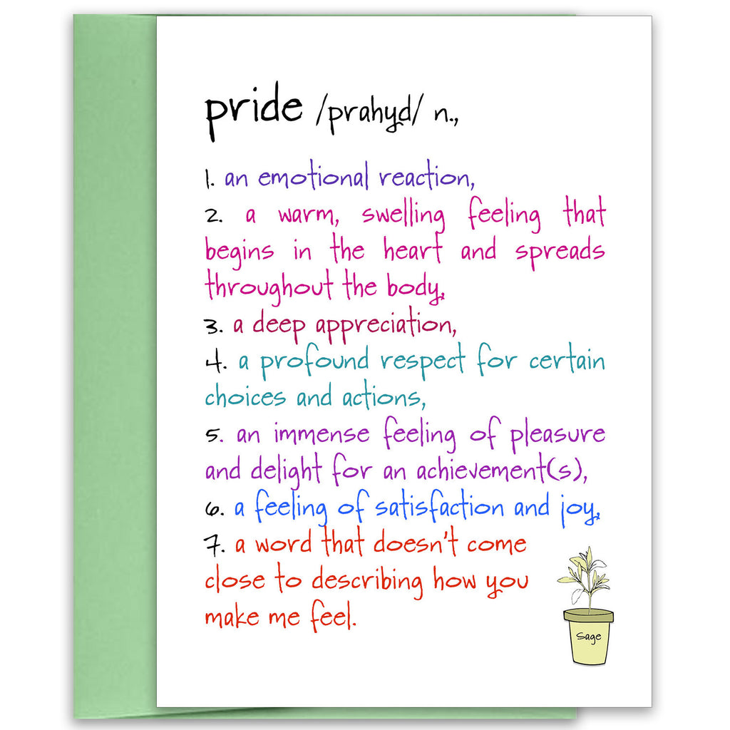 Pride - a Celebration Greeting Card