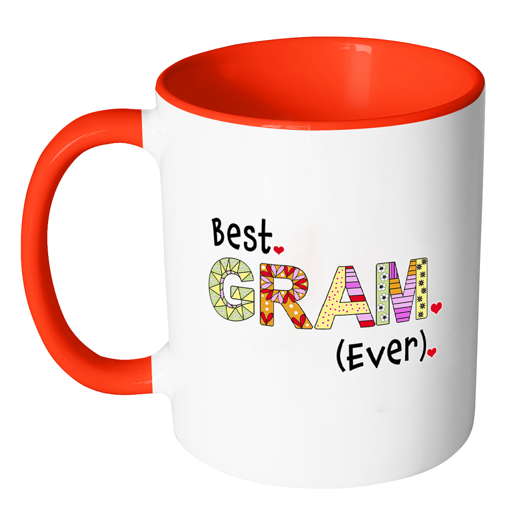 Best Gram Ever Coffee Mug - Two Tone Grandma Mug - KatMariacaStudio